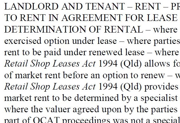 RENTAL DETERMINATION VOID